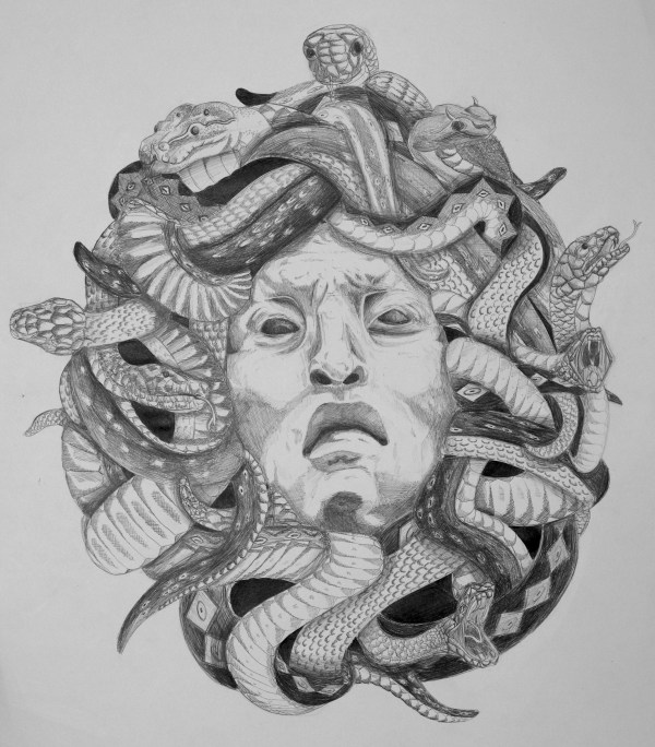 Medusa Head Drawing