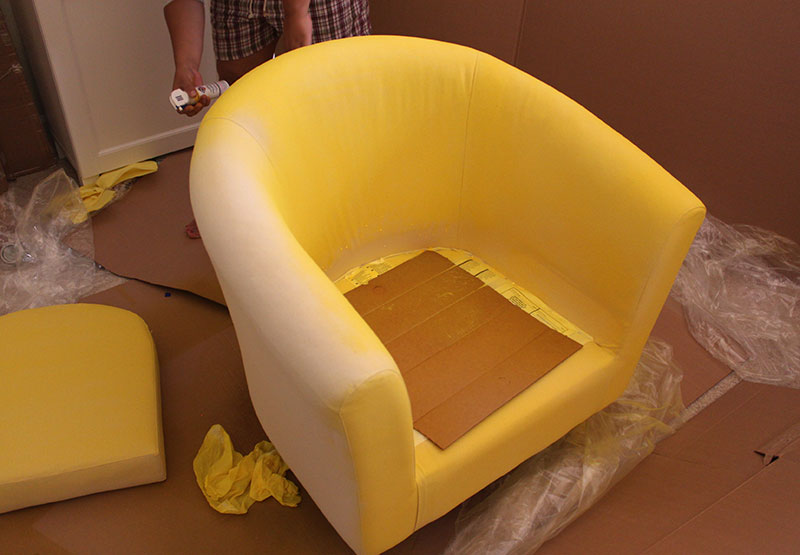 ikea chair covers tullsta hanging deck hack painted upholstery 4