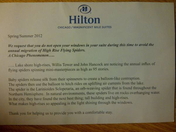 Hilton Hotel Guest Welcome Letter