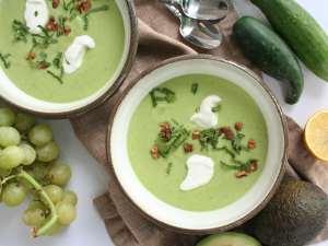 green grape gazpacho