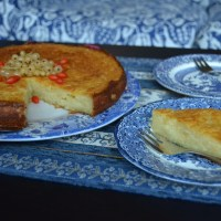 Baked Orange Ricotta Cheese Cake