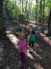 Hiking at the Nature Center