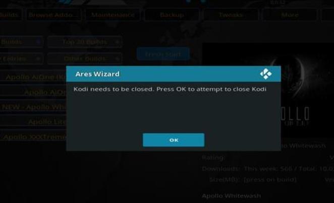 How to Install Apollo Build Kodi 17.1 Krypton step 33