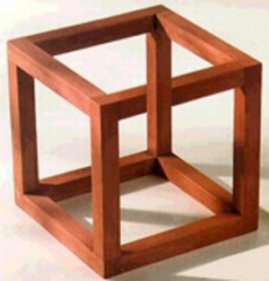 optical illusion cube