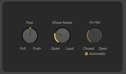 Logic Pro X Drummer Feel, Ghost Notes, Hi-Hat