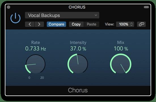 Logic Pro X Chorus plugin