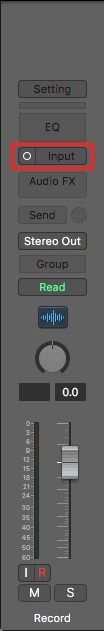 Logic Pro X Channel Strip Input