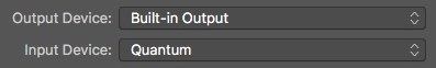 Logic Pro X Input and Output Devices