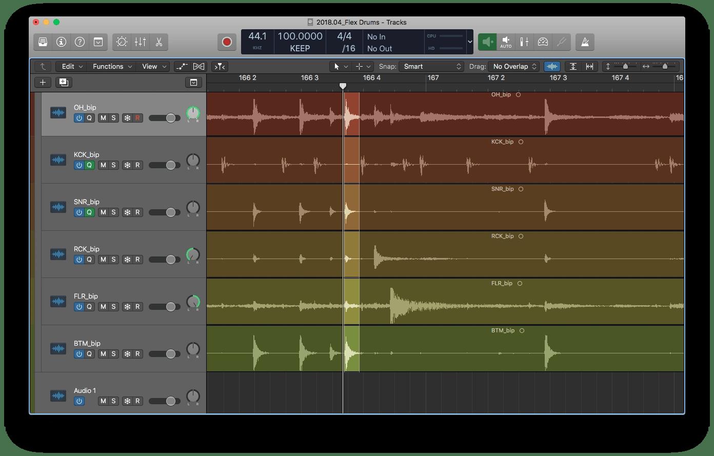Logic Pro X Group Editing (Selection)