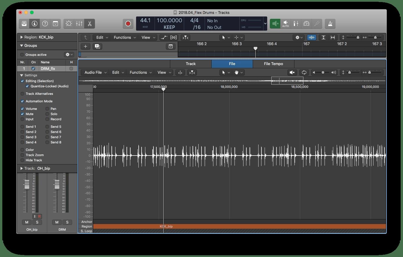 Logic Pro X Audio File Editor