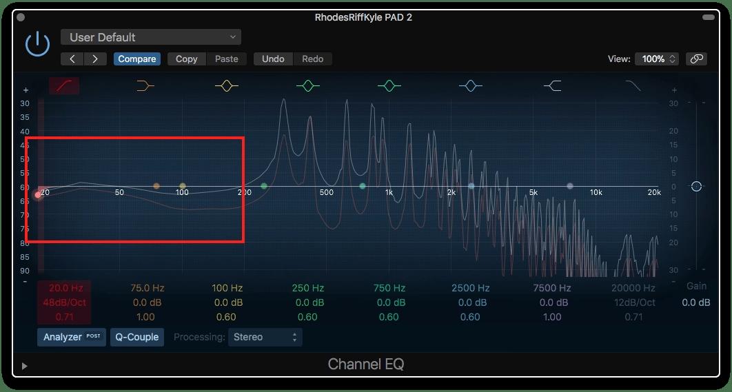 Logic Pro X Low Level Noise
