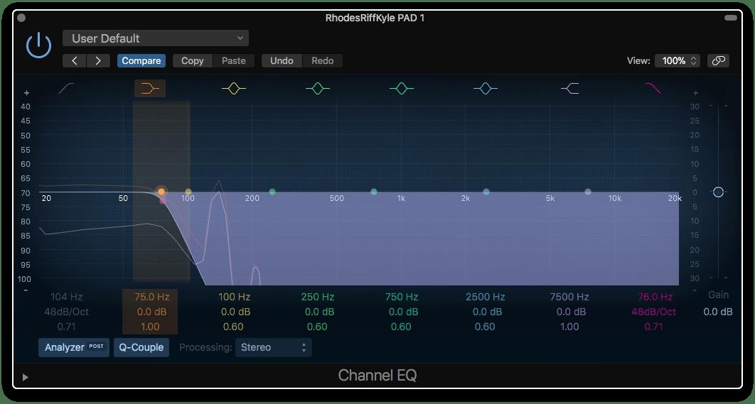 Logic Pro X Low Passing