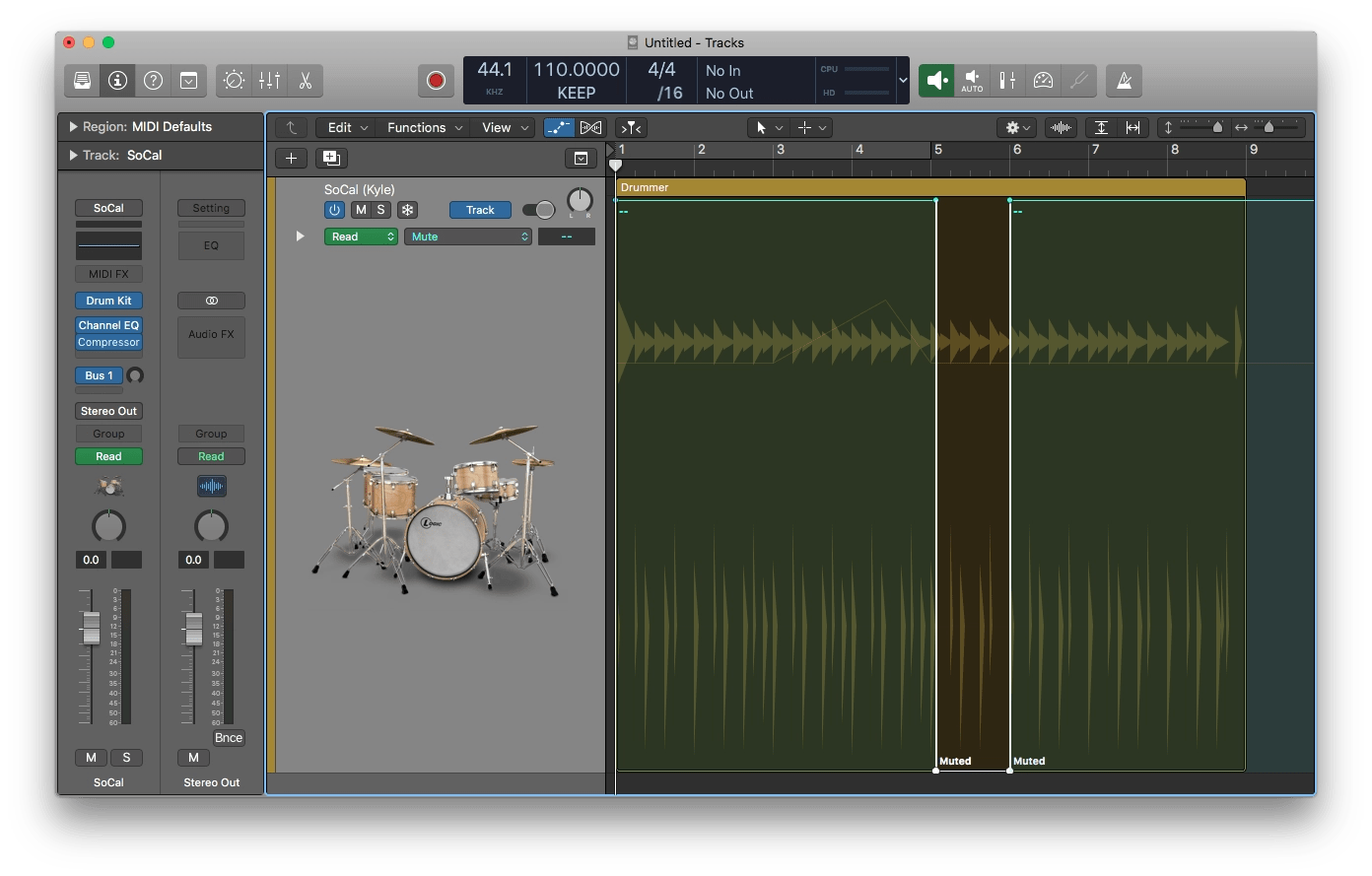 Logic Pro X Muted Automation