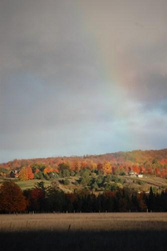 Fall Color Hillside & Rainbow