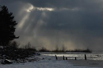 Elk Rapids Winter Shoreline