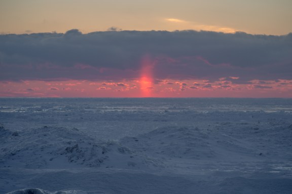 Leelanau Winter Sun Pillar