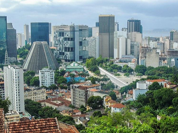 Centro do Rio de Janeiro visto do Parque das Ruínas