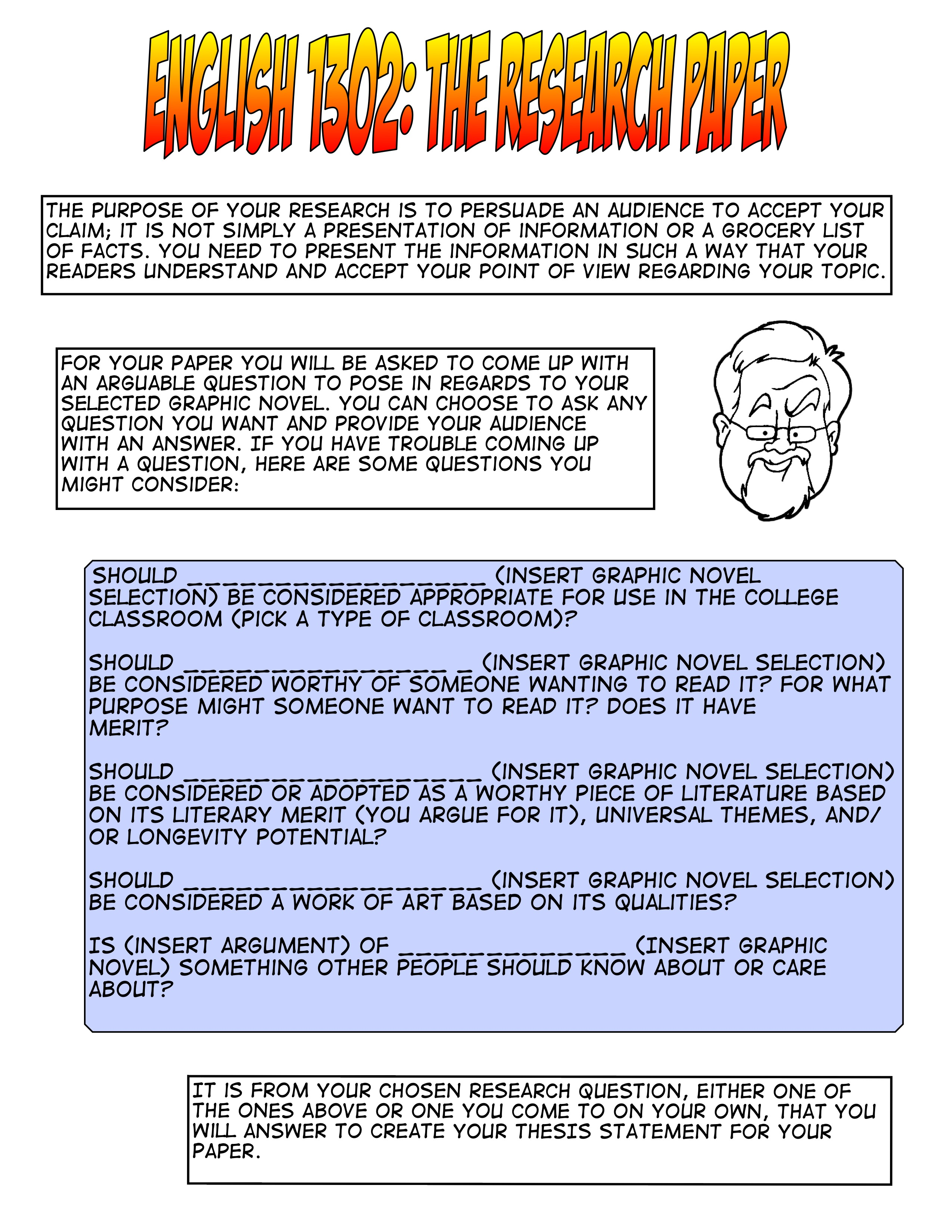 Research Paper On Graphic Novel – COMPOSITION 2