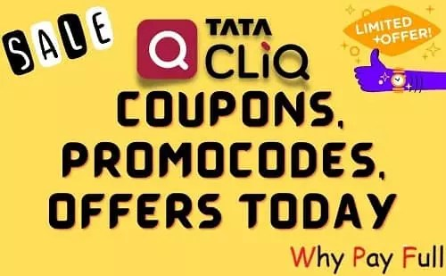 TATACLIQ Coupons, Promocodes, Offers Today on WhyPayFull.in