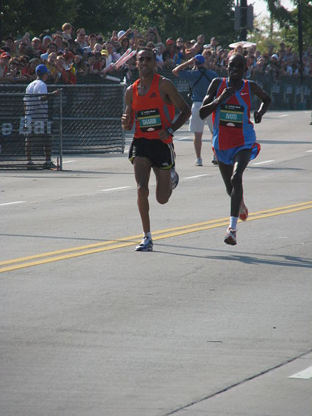 Finish of the 2007 Chicago Marathon