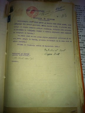 A permit given ın September 1940 to refugees from Bazarçıq that became a Bulgarian province, İzzet Murat Ahmet and Necime İzzet Murat Ahmet, allowıng to mıgrate to Turkey.