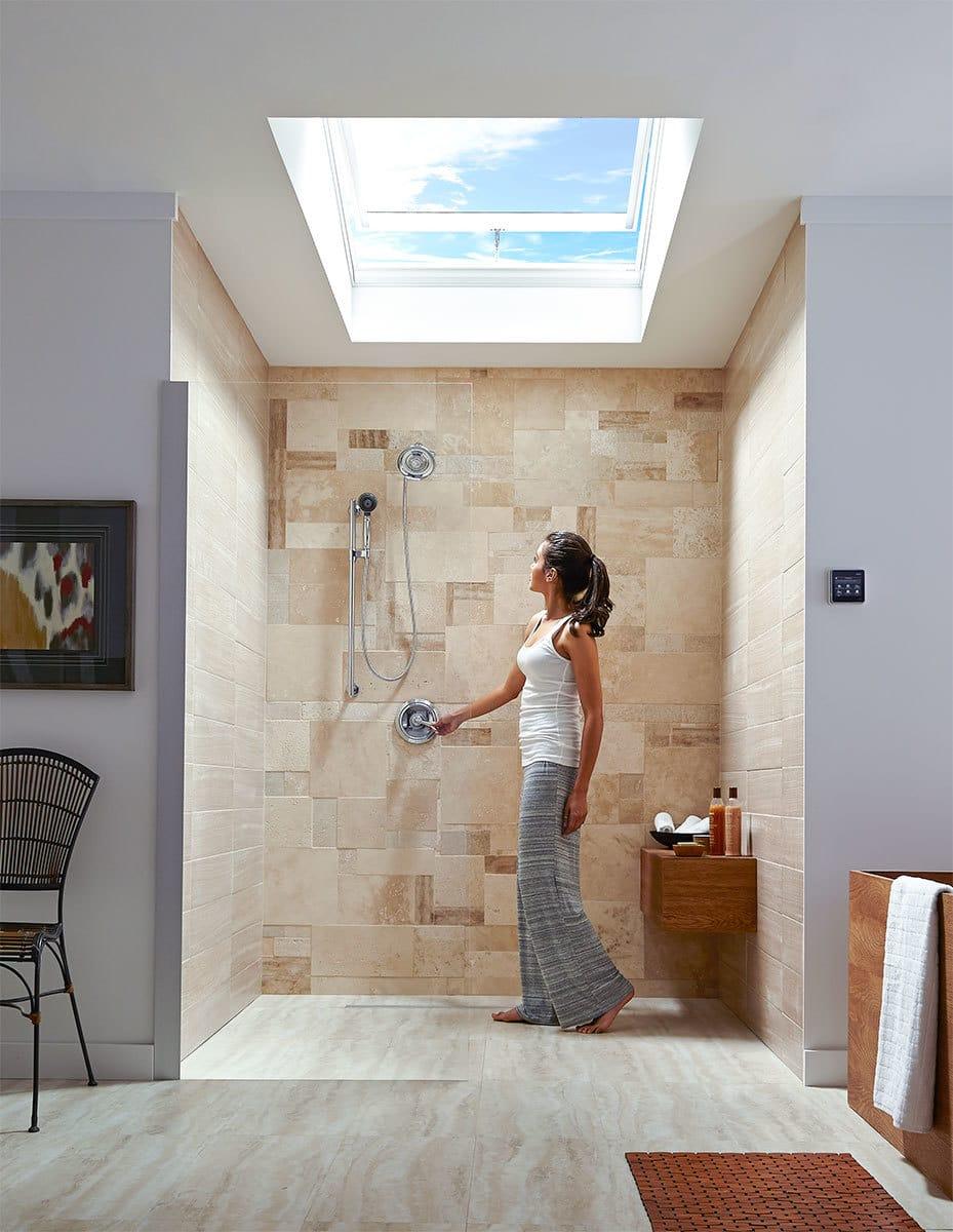 Vented Bathroom Skylight  Lighting Odor  Moisture Control