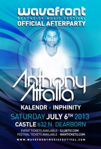 Anthony Attalla @ Palladium Nightclub inside Castle Chicago 7.6.13 Wavefront Official After-Party