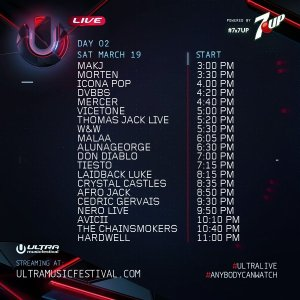 ultra live day2 schedule