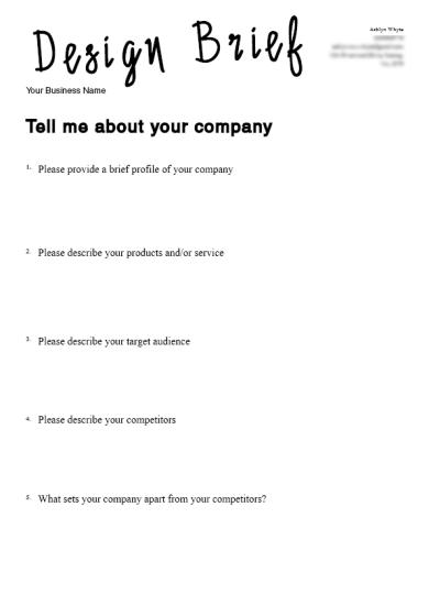 Client Design Brief