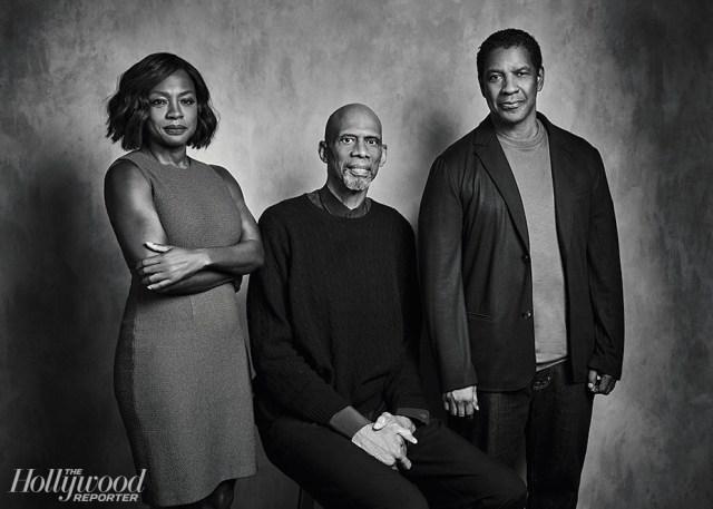 David Needleman From left: Davis, Abdul-Jabbar and Washington were photographed Nov. 13 at Quixote Studios in L.A.