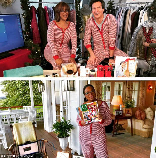 Gayle and Oprah showed off their pajamas for the first time back in early November