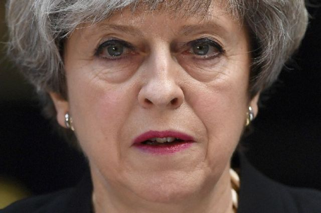 Haunted by the ghost of Margaret Thatcher? Britain's Theresa May has Conservative MPs plotting against her, reviving memories of the internal party scheming that led to Thatcher's fall in 1990 (AFP Photo/Justin TALLIS)