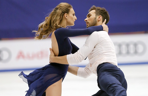 Gabriella Papadakis and Guillaume Cizeron of France broke both the Free Dance and Total record scores at the 2017 Cup of China. © Robin Ritoss