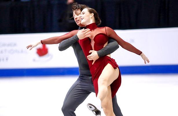 Canada's Tessa Virtue and Scott Moir perform their free dance at 2017 Skate Canada International. Photo © Robin Ritoss