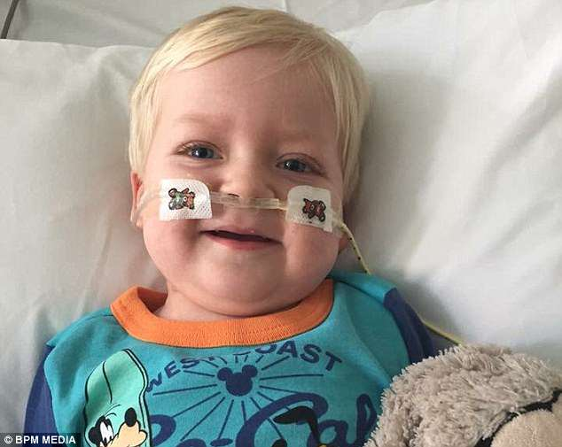 Two-year-old Dylan Askin (pictured), from Shelton Lock, contracted an extremely rare type of lung cancer