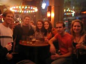 Birthday group blur