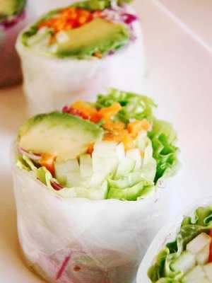 Vegan California Roll in Rice Paper - Eating Vegan on the Road