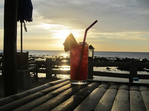 A Fruity Drink and A Sunset - Safety Tips for Travel