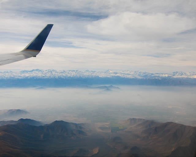 Views of Mountain from a Plane Window - Should You Start a Travel Blog: The Dirty Truth