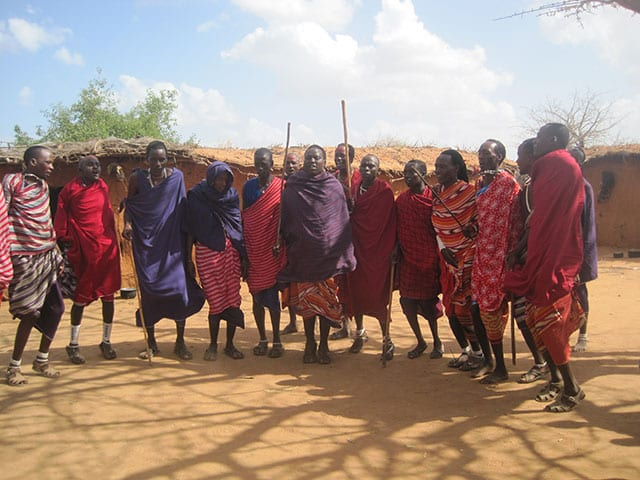 Visiting the masai tribe