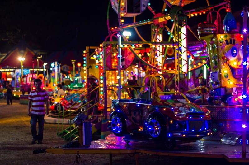 Kids' Rides at Sayulita Days Carnival in Mexico