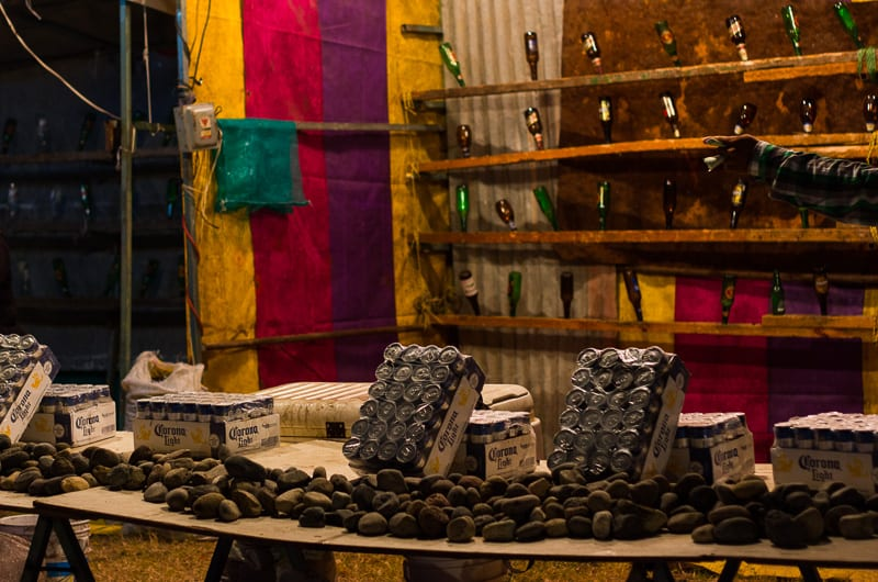 Break the Beer Bottles with a Rock to Win a Prize at Sayulita Days