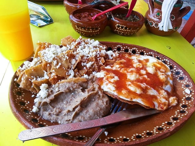 A Plate of Chilaquiles in Sayulita, Mexico - The Best Sayulita Restaurants for Mexican Food
