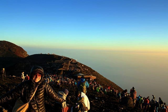Smiles at Sunrise on Mt. Fuji - How to Summit Mt. Fuji