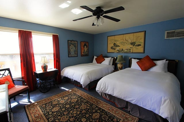 The Japanese Inspired Room at Yosemite Bug Rustic Mountain Resort - Is This the Best Hostel in the US?