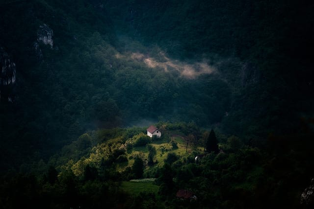 A Lone Home in the Mountains - Driving in Bosnia