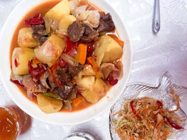 Mmmmm meat and potatoes - Exploring the Foods of Kyrgyzstan