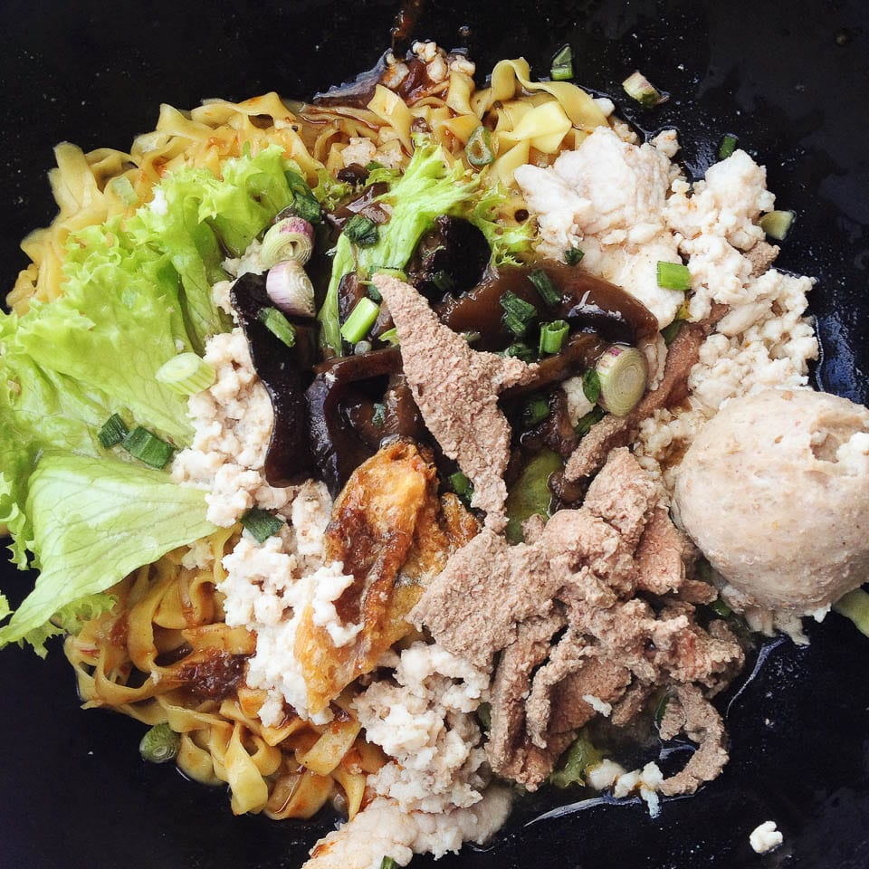 Mushroom Minced Meat Noodle - Hawker Foods in Singapore You Must Try
