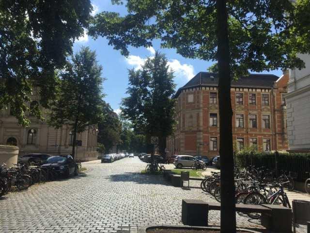 cobblestone streets of Leipzig
