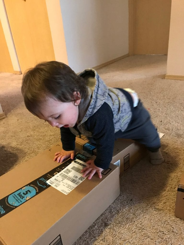 Marcella receiving some Amazon packages - Preparing to Move Abroad